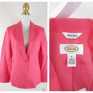NEWTalbots Solid Pink Irish Linen Blazer Jacket 6